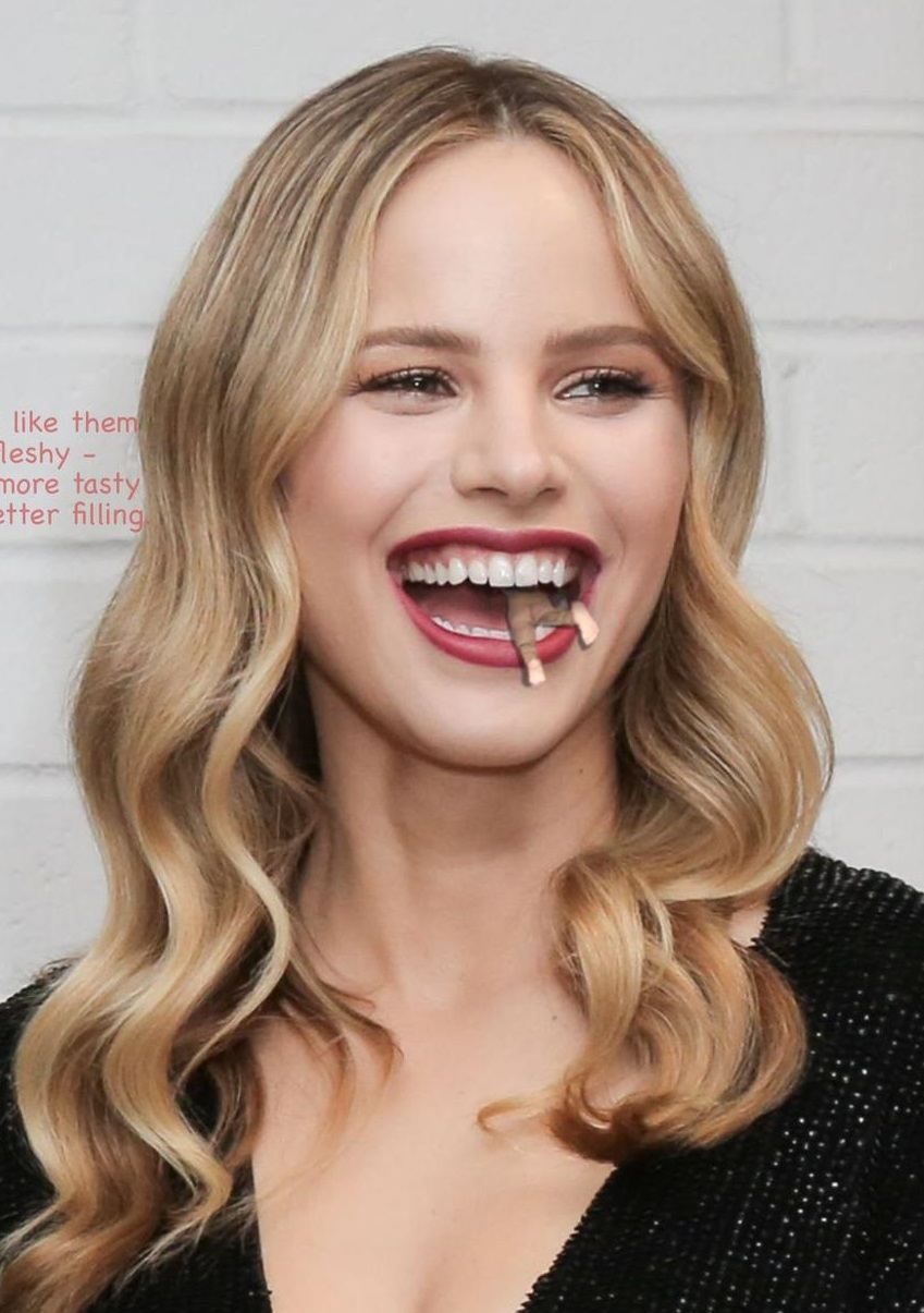 Halston Sage Doll Eating Picture